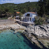 Luxury villa with swimming pool on the island of Hvar, by the sea, Dalmatia, Croatia,