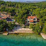 Villa with pool, direct on the sea, Milna, island Brac, Dalmatia, Croatia,
